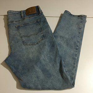 American Eagle Flex Skinny Mens Blue Jeans 38x32